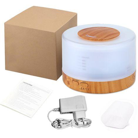 Humidificador de aire, difusor ultrasonico, interruptor de apagado automatico, 500ml