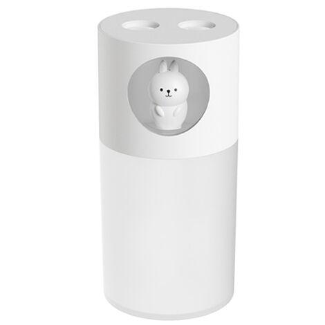 Humidificador de aire lindo para mascotas 280ML, 2 boquillas, pulverizador de niebla, humidificador USB, luz nocturna
