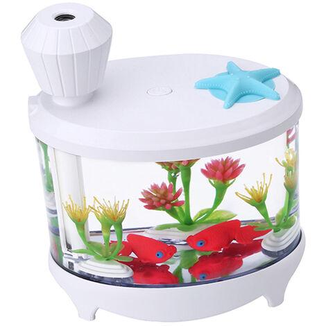 Humidificador humidificador de aire creativo acuario purificador de su casa la luz Mini USB noche hermosa