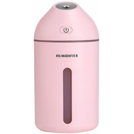 Humidificador ultrasonico portatil, 320 ml, difusor de aire, con lampara de noche calida romantica