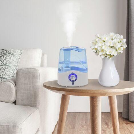 Humidificador ultrasónico vapor frío luz nocturna 6 L 300 ml/h - Blanco