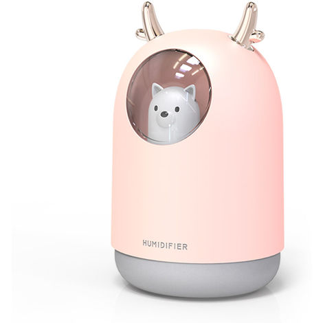 Humidificateur, Charge Usb, Lumiere Multicolore