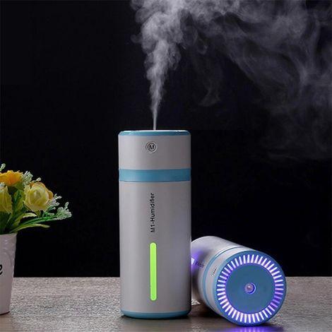 Humidificateur d'Air bleu pour Voiture / Maison / Bureau, Capacité du réservoir d'eau: 240ML, DC 5V 2W USB Chargeur Bouteille Po