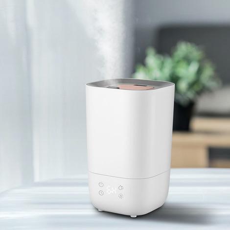 Humidificateurs pour chambre à coucher (3.5L), diffuseur d'huiles essentielles, télécommande, humidificateurs à ultrasons chaud et froid, remplissage supérieur, télécommande, humidité personnalisée, affichage LED
