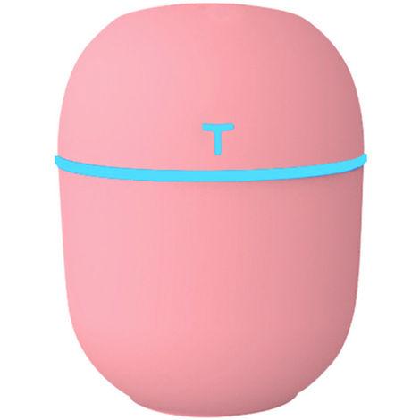 Humidifier Cool Mist Portable Diffuseur silencieux Coupure automatique Off Nuit Bureau Lumiere Bureau Humidificateur Voiture de grande capacite, Rose