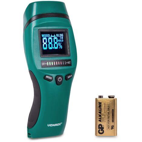 """main image of """"Humidimètre – Ecran LCD- avec rétro éclairage - Usage professionnel et précis"""""""