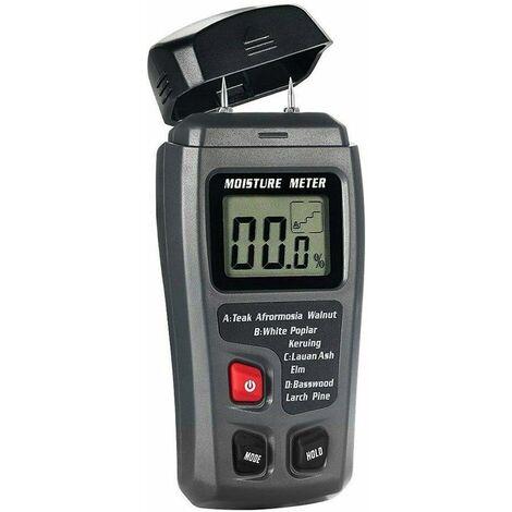 Humidimètre pour Bois, LCD Numérique à 2 Broches 0,5% Testeur de Détecteur d'humidité Précis 0-99,9% pour le Bois de Chauffage - N'incluez pas les Piles
