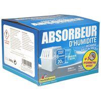 Humidivore absorbeur H35 + galet 500gr neutre + Hygromètre Seko Offert