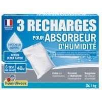 HUMIDIVORE - Recharge absorbeur 1Kg - lot de 3