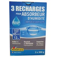 HUMIDIVORE - Recharge absorbeur 350 g lot de 3