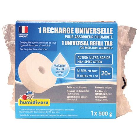 HUMIDIVORE - Recharge absorbeur 500g - galet percé