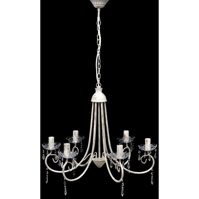 Image of Hummell 6-Light Candle Style Chandelier by White - Classicliving