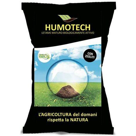 Humotech, (25 kg), ammendante organico, miscela di letami stagionati e umificati con zeolite