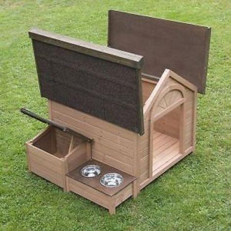 Hundehütte aus Holz L 104 x P 91 x H 81 cm