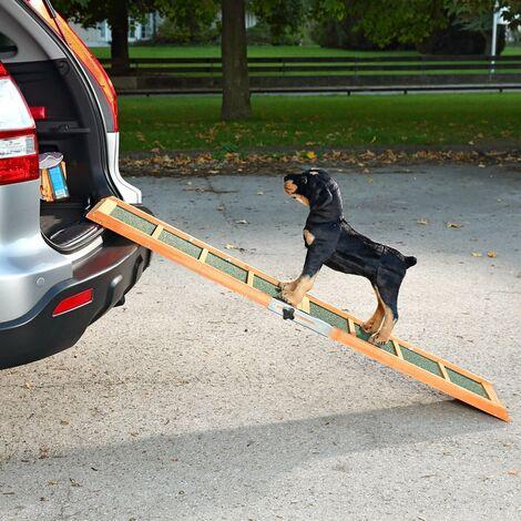 Einstiegshilfe f/ür Kofferraum schwarz Relaxdays Hunderampe Auto Kunststoff 156x40cm klappbar rutschfest bis 90 kg