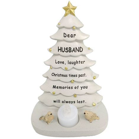 Husband Xmas Tree With Flickering Light 14.5 x 19.5 x 9 cm