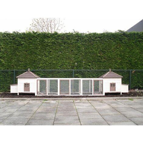 . Hutch Poulailler ROMA XXL QUALITÉ MADE IN UE Dimensions maximales: 534x93x122cm | Dimensions Plancher: 454x80cm