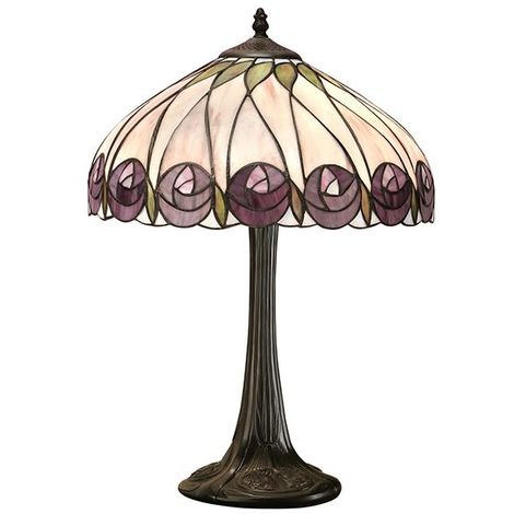 Hutchinson Medium Tiffany Style Table Lamp 60W Used For Indoor