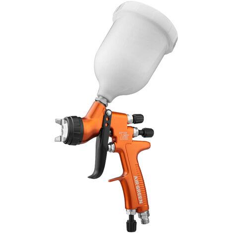HVLP Alimentacion por gravedad Pistola de pulverizacion de 1,3 mm Boquilla 600cc Copa de pintura altamente atomizado pistola de pulverizacion Ultra Alta Eficiencia de Transferencia verde y Ahorro de Grasa con base de agua Topcoat Pulverizacion de Orange