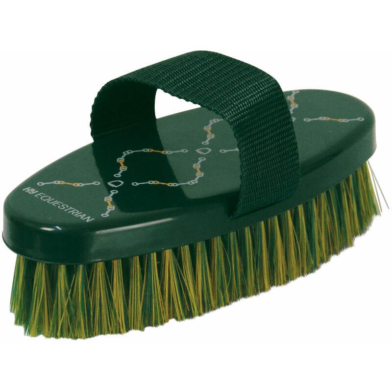 Image of Elegant Stirrup And Bit Horse Body Brush (One Size) (Green) - HY