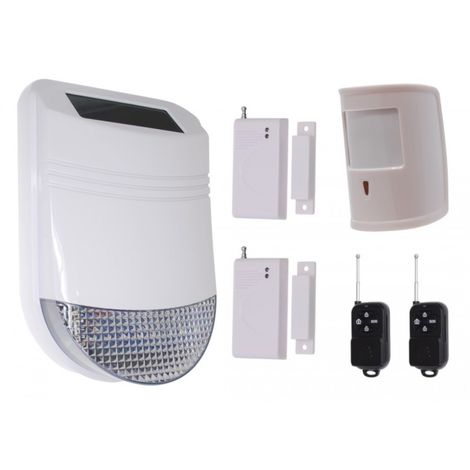 HY Solar Wireless Siren House Alarm Kit 5 [005-6250]