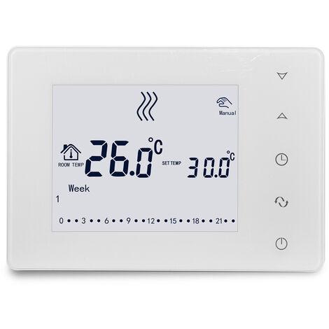 Hy05Rf Wifi 433Hz Lcd Multifonction Touche Ecran Intelligent Thermostat Murale Thermostat Chaudiere Accueil Regulateur De Temperature