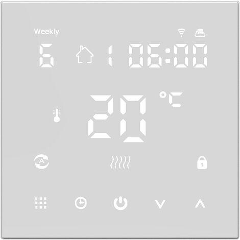 HY607 affichage numerique controleur de temperature intelligent telephone portable APP voix WIFI thermostat de chauffage par le sol electrique