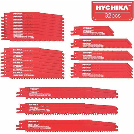 """main image of """"HYCHIKA 32 PCS Lame per Sega a Gattuccio, Per il taglio di Metallo e Legno, Con Scatola di Immagazzinaggio"""""""