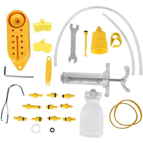 Hydraulic Brake Bleed Kit for Tektro / Shimano Professional Bicycle Repair Tool, Disc Brake Bleed Kit and Tools for Mountain Bike MTB