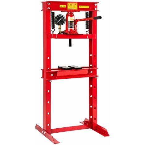Hydraulic press 12 t - workshop press, hydraulic bench press, hydraulic press machine - red