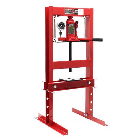 Hydraulic Press with Pressure Gauge, 6 Ton Pressure Force