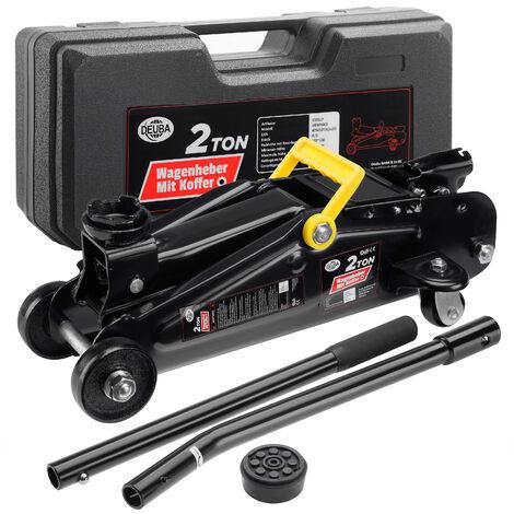 Hydraulic Trolley Jack Model Choice - 2 t Capacity Swivel Bar Set Rubber Coating Garage Workshop Tool Lift Van Car 2000 kg