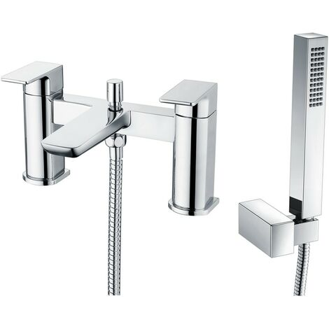Hydro Chrome Deck Mounted Bath Shower Mixer & Shower Kit