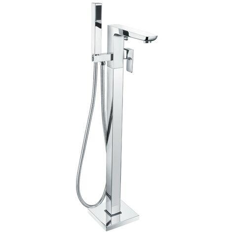 Hydro Chrome Floor Mounted Bath Shower Mixer & Shower Kit