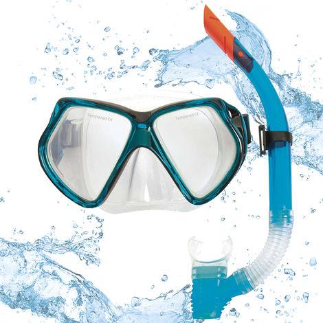 """HYDRO-PRO™ Snorkeling Set """"Combo"""" Blue"""