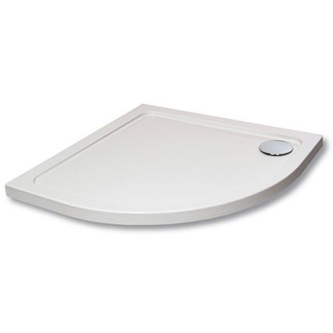 Hydro45 800mm White Quad Shower Tray - size 800mm - color White