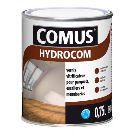 HYDROCOM MAT SOIE - Incolore 0,75L - Vitrificateur polyuréthane acrylique mono-composant pour parquets, escaliers et boiseries - COMUS