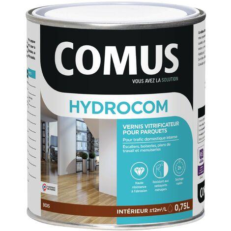 HYDROCOM SATIN - Incolore 0,75L - Vitrificateur polyuréthane acrylique mono-composant pour parquets, escaliers et boiseries - COMUS