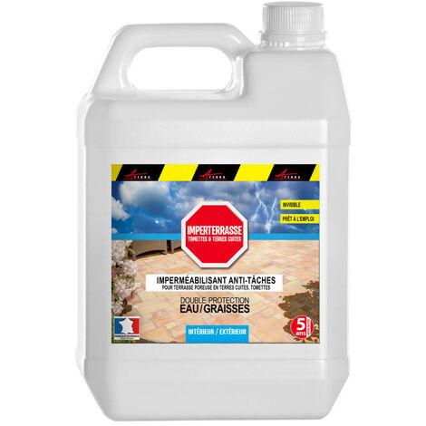 Hydrofuge Imperméabilisant sol terre cuite et tomette anti taches -IMPERTERRASSE TOMETTES et TERRES CUITES