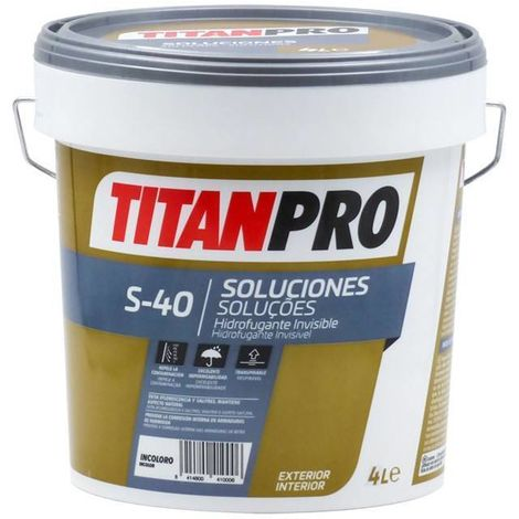 Hydrofuge invisible à l\'eau incolore S40 Titan Pro