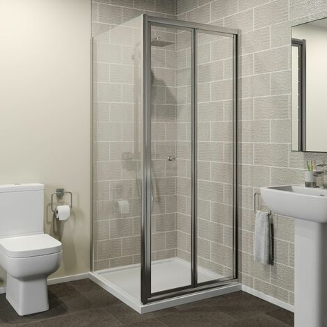 Hydrolux 760 x 760mm Bi-fold Shower Door & Side Panel - 4mm Glass