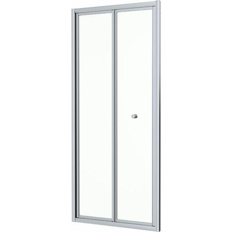 Hydrolux 800 x 800mm Bi-fold Shower Door & Side Panel - 4mm Glass