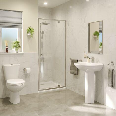 Hydrolux 800mm Pivot Shower Door - 4mm Glass