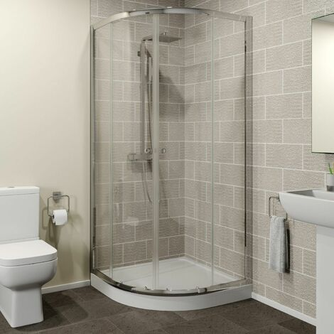 Hydrolux 900mm Quadrant Shower Enclosure 4mm Glass Easy Plumb Tray Waste