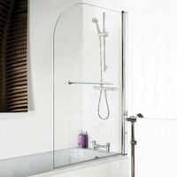 Hydrolux Curved Edge Shower Screen with Towel Rail - 790mm Width