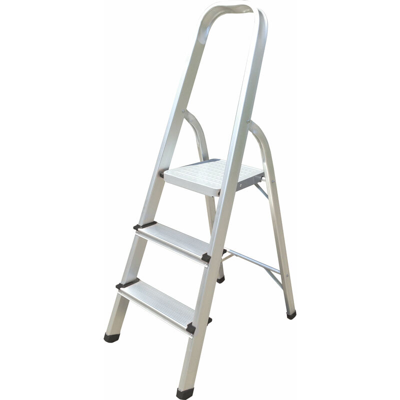 Image of Aluminium 3 Step Ladder Lightweight - Hyfive