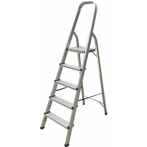 Hyfive Aluminium 5 Step Ladder Lightweight