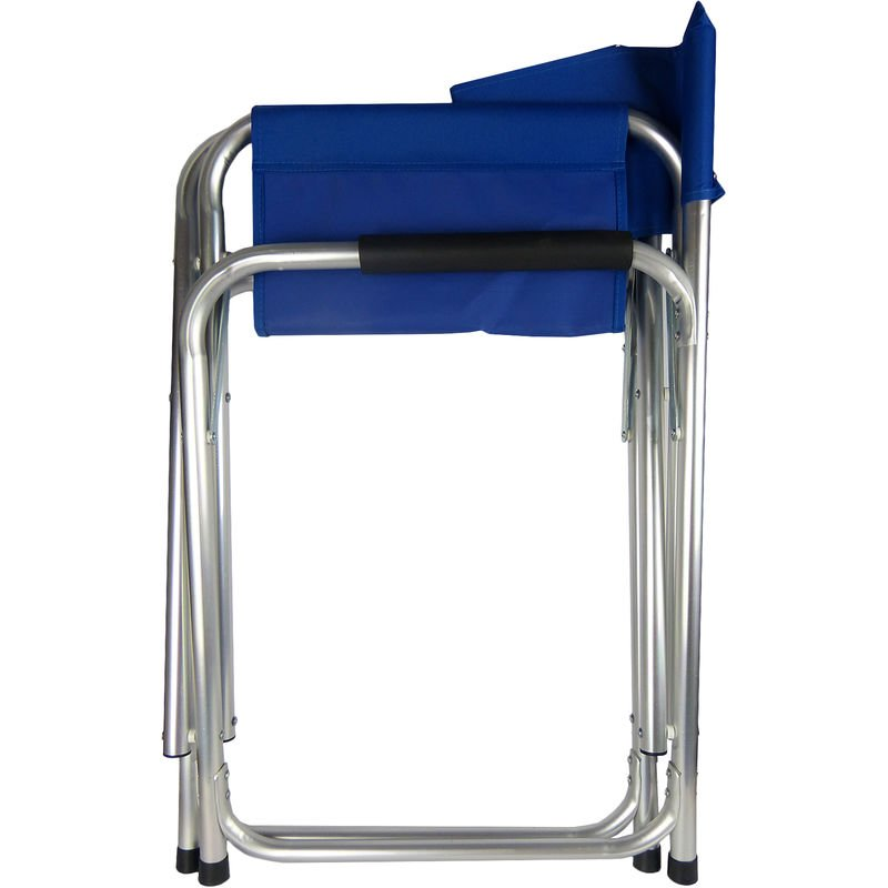 Hyfive Blue Aluminium Directors Folding Chair with Arms For Camping Fishing Garden Pack of 2