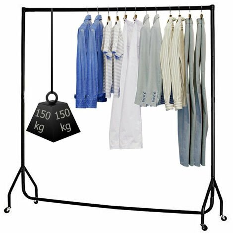 Hyfive Clothes Rail On Wheels Heavy Duty Clothes Rack Garment Hanger 5ft Long