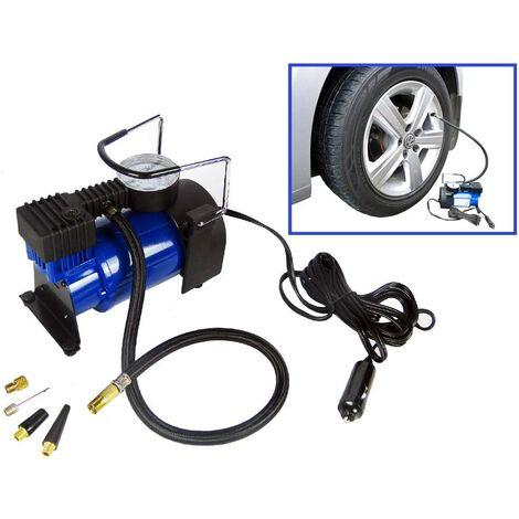Hyfive® Heavy Duty Portable 12v Air Compressor Tyre Pump Car Van Tyre Inflator